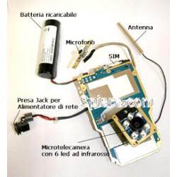 Microtelecamera UMTS a colori con sensore ad infrarossi